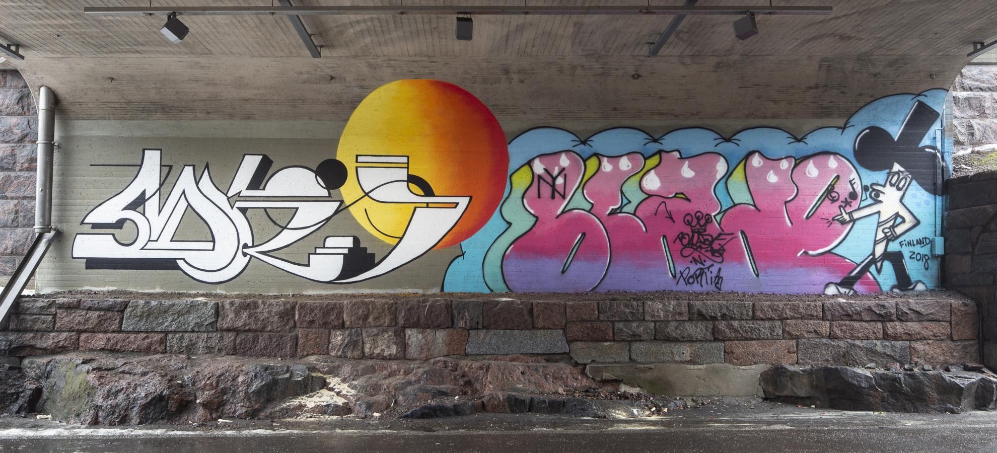 6 x graffiti on the streets of helsinki my helsinki